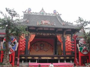 Stage in Wuhou temple