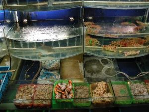 Sea food restaurant in Shanghai