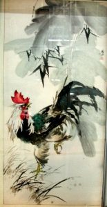 Cock painting for the year of the rooster