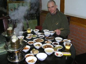 eating snack in Chengdu
