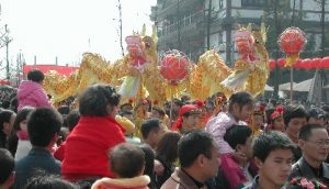 Dragon dance in Hibiscus town