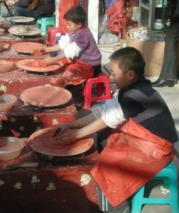 Children in Renmin Park Chengdu