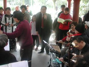 Singing in Renmin Parc Chengdu
